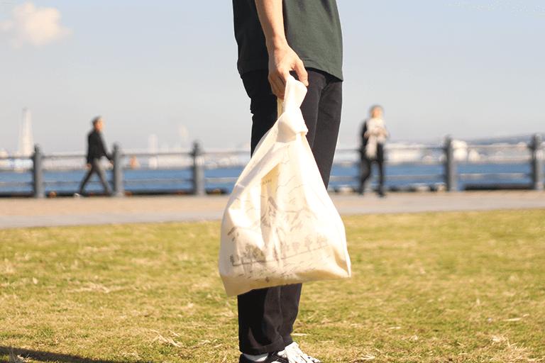 レジ袋タイプのエコバッグ